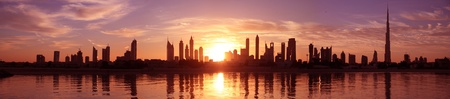 mid morning: Cityscape, dubai Stock Photo