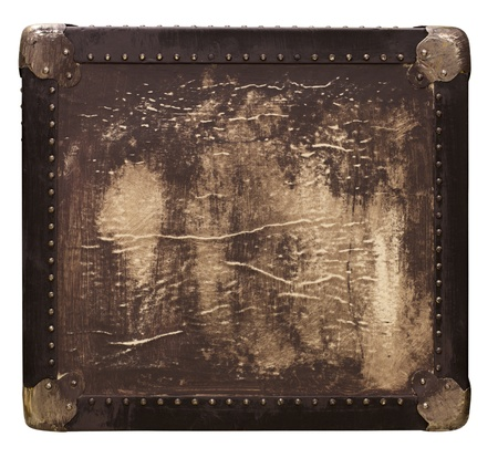 Vintage travel square box with texture