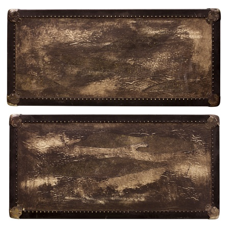 Vintage travel rectangular box with texture photo
