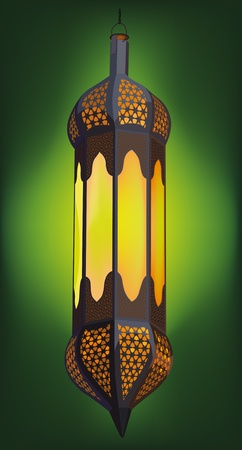 Illustration of Traditional Arabic Lantern Ideal for Ramadan concept Vector