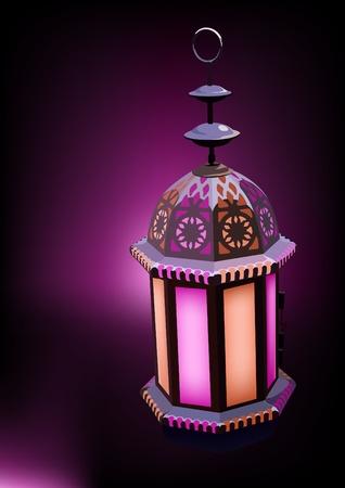 intricate: Arabesque Lantern Ideal for Ramadan concept Illustration