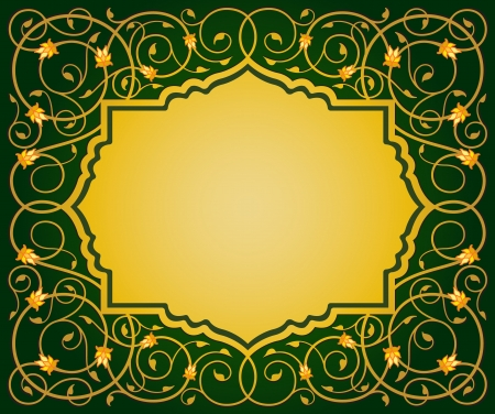 in islamic art: Islamic floral art vector illustration border EPS10 format