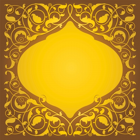 Islamic floral art background  向量圖像