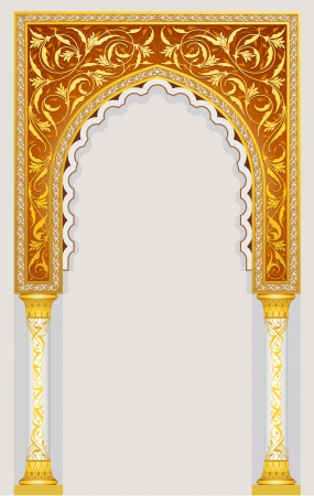 High detailed islamic arch design in vector illustration eps 10 Vector