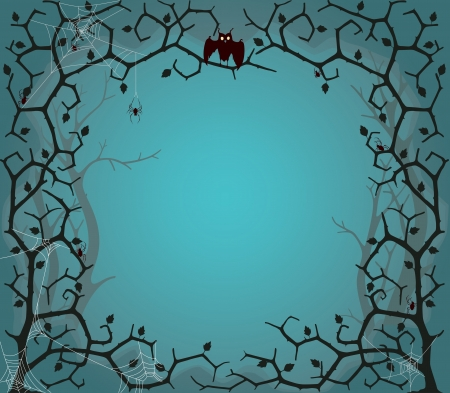 Vector illustration of scary tree background in EPS10 format Vector