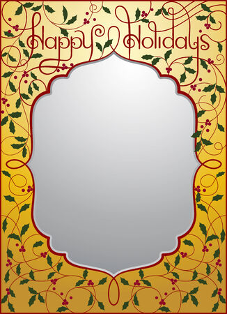 Vector illustration of Happy Holidays background in gold color  EPS 10 format