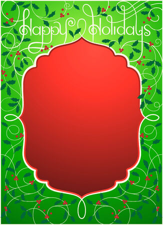 Vector illustration of Happy Holidays background in green color  EPS 10 format 向量圖像