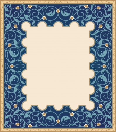 Islamic art frame Vector