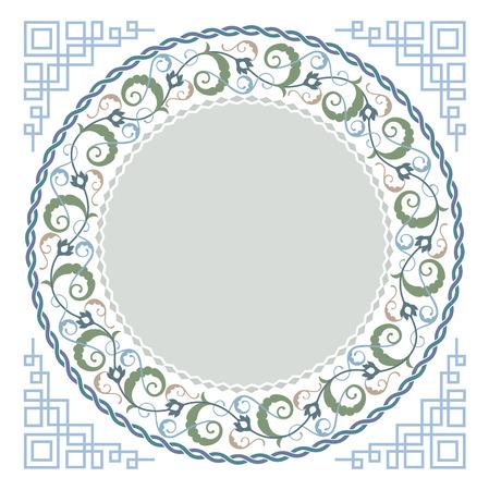 Islamic floral art Vector