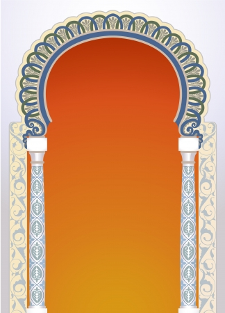 Vector illustration of high detailed floral arch in EPS10 format Vector