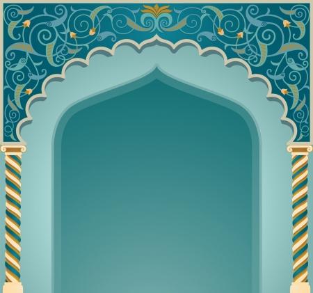 Vector illustration if islamic arch design