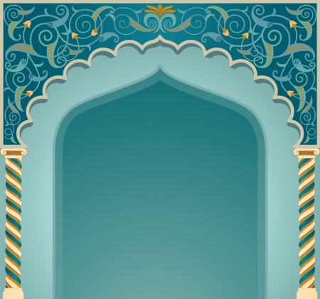 islamic design: Vector illustration if islamic arch design
