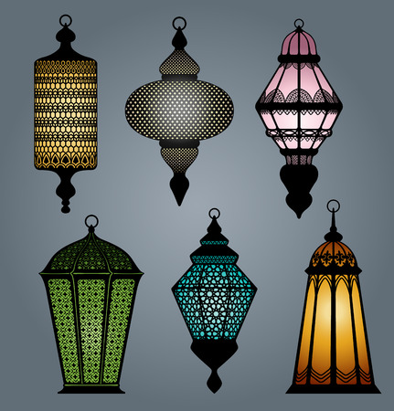 set of arabic lantern  Vector