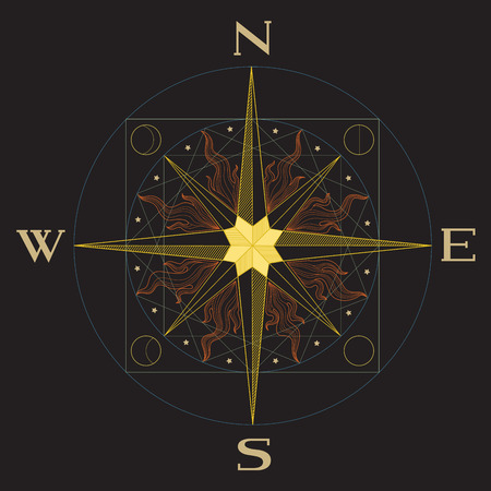 north star: Compass vector illustration