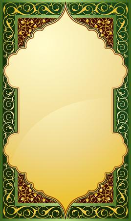 middle: Middle eastern design in eps10 vector illustration