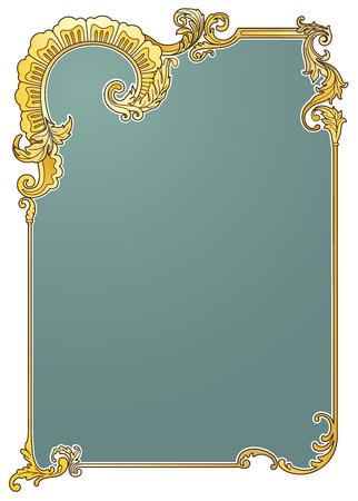 victorian frame: Victorian frame vector illustration eps10