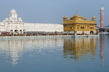 golden temple (sri harimandir sahib) in amritsar. it is a central religions place of the sikhs photo