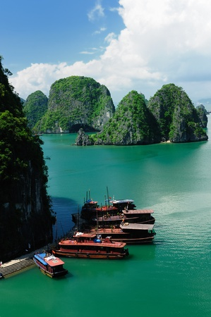 vietnam - halong bay national park  the most popular place in vietnam. photo