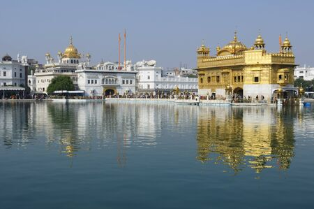 uttar: Golden temple (Sri Harimandir Sahib) in Amritsar. It is a central religions place of the Sikhs