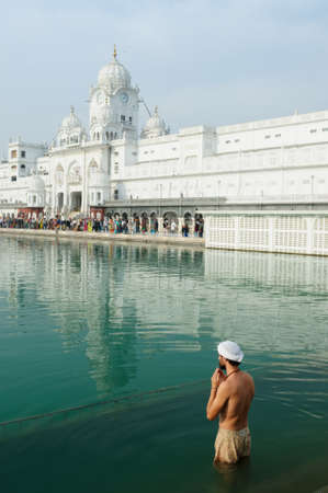 Golden temple (Sri Harimandir Sahib) in Amritsar. It is a central religions place of the Sikhs