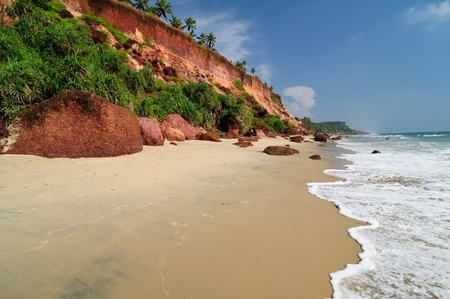 varkala: Exotic cliff beach in Varkala. Kerala. India