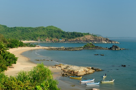 karnataka: The most beautifull beach in India near Gokarn city. Karnataka Stock Photo
