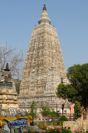 Mahabodhy Temple in Bodhgaya, Bihar, India.  photo