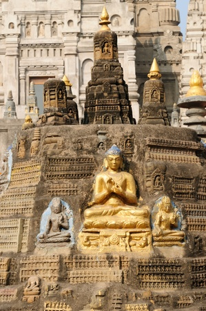 Mahabodhy Temple in Bodhgaya, Bihar, India.
