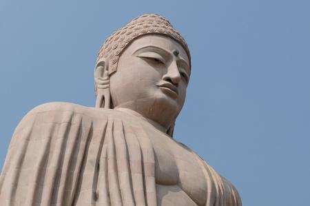 gaya: Giant Buddha in Bodhgaya, Bihar, India.  Stock Photo