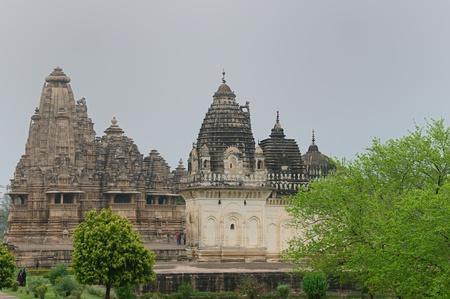 pradesh: Khujaraho temples. Madhya Pradesh, India.