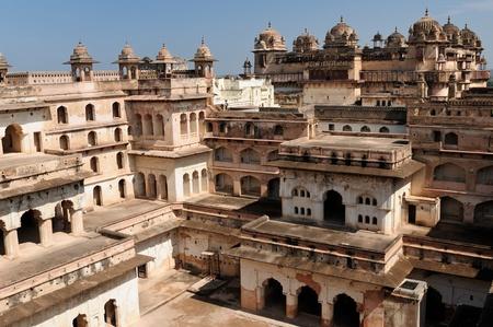 madhya pradesh: Jehangir Mahal Palace in Orchha, Madhya Pradesh, India. Stock Photo