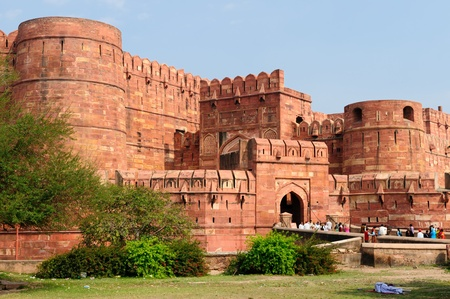 uttar: Red Fort in Agra, Amar Singh Gate,  India, Uttar Pradesh