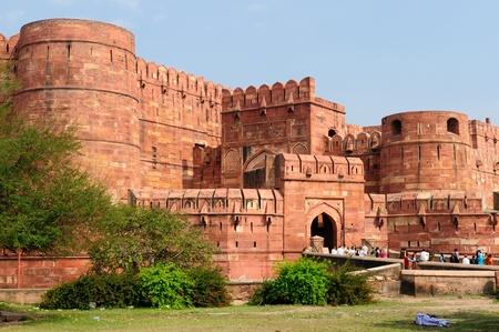 Red Fort in Agra, Amar Singh Tor, Indien, Uttar Pradesh Standard-Bild - 12001370