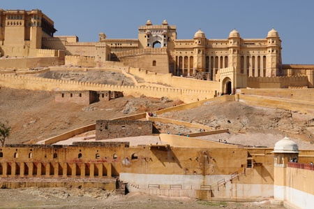 Beautifoul Amber Fort bei Jaipur Stadt Indiens. Rajasthan Standard-Bild - 12098407