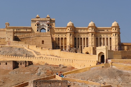 Beautifoul Amber Fort bei Jaipur Stadt Indiens. Rajasthan Standard-Bild - 12098333