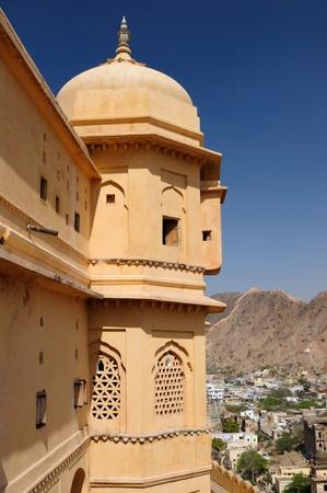 rajput: Beautifoul Amber Fort near Jaipur city in India. Rajasthan
