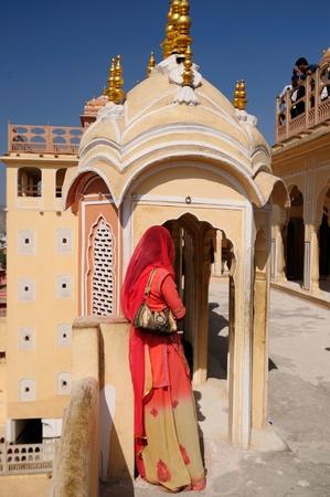 rajput: Beautifoul Hawa Mahal Palace in Jaipur city in India. Rajasthan Stock Photo