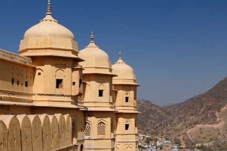 Beautifoul Amber Fort near Jaipur city in India. Rajasthan photo