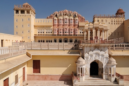 Beautifoul Hawa Mahal Palace in Jaipur city in India. Rajasthan Stock Photo - 12098656