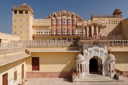 jagmandir: Beautifoul Hawa Mahal Palace in Jaipur city in India. Rajasthan Stock Photo