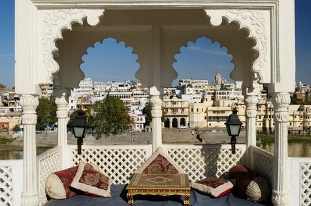 Viev auf der Udajpur Stadt, Indien. Rajasthan Standard-Bild - 12098851