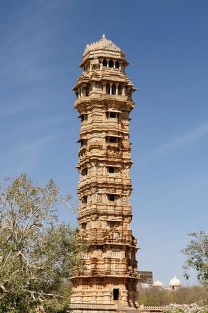 jagmandir: Beautifoul Fort Chittor in  Chittorgarh, India. Rajasthan. Jaya stambha Stock Photo
