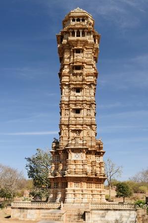 jagmandir: Beautifoul Fort Chittor in Chittorgarh, India. Rajasthan. Jaya Stambha