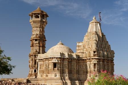jagmandir: Beautifoul Fort Chittor in ChittorIndia. Rajasthan. Kirti Stambha Stock Photo