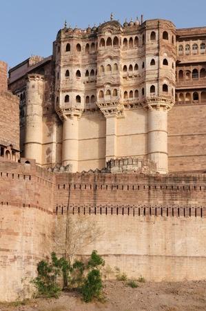 rajput: Majestic Fort maharaja of Jodphur on the hill near Jodphur city in India. Rajasthan