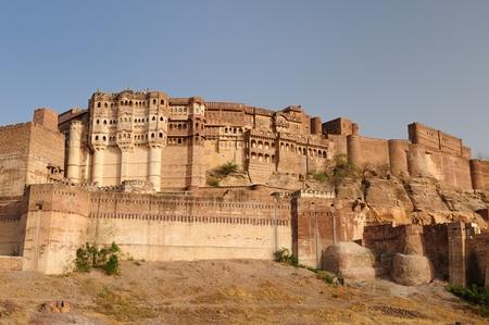 maharaja: Majestic Fort maharaja of Jodphur on the hill near Jodphur city in India. Rajasthan