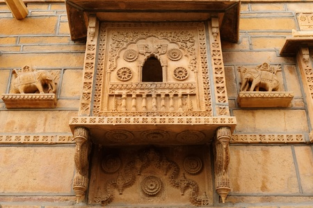 Beautifolu Haveli in Jaisalmer city in India. Rajasthan photo