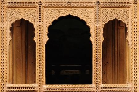 Beautifolu Haveli in Jaisalmer city in India. Rajasthan photo