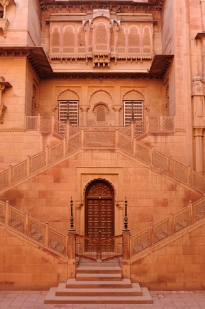 bikaner: Beautiful Junagarh Fort in Bikaner city in India. Rajasthan