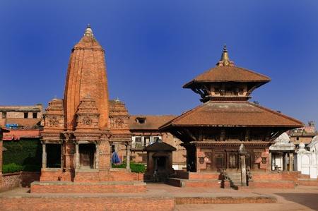 Wiew of Bhaktapurs Durbar Square, Unesco, Bhaktapur, Durbar Square, Nepal.
